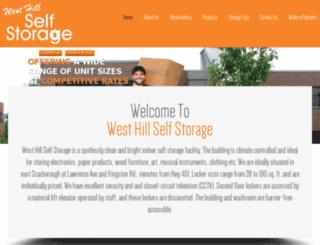 westhillstorage.com screenshot
