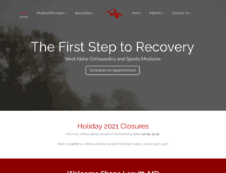 westidahoorthopedics.com screenshot