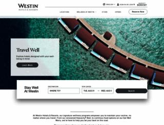 westin.com screenshot