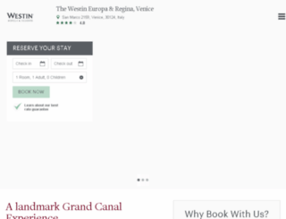 westineuropareginavenice.com screenshot