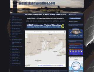 westislandweather.com screenshot