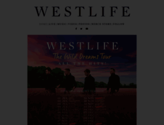 westlife.com screenshot