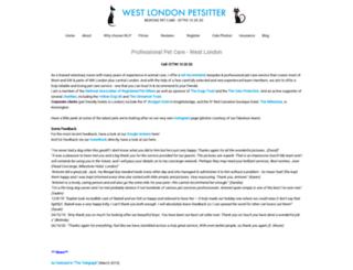 westlondonpetsitter.co.uk screenshot