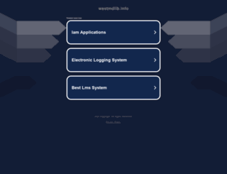 westmdlib.info screenshot