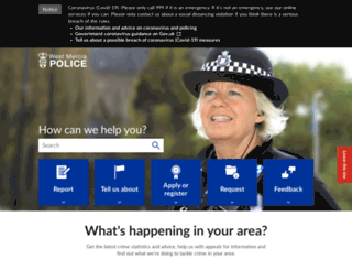 westmercia.police.uk screenshot
