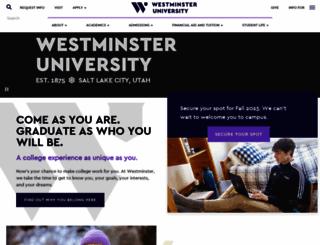 westminstercollege.edu screenshot