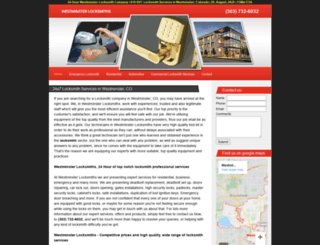 westminsterlocksmiths.biz screenshot