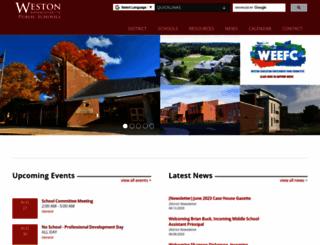westonschools.org screenshot