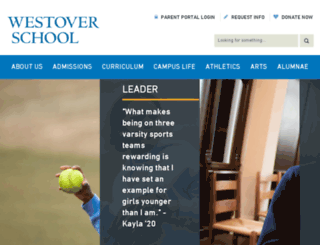 westoverschool.org screenshot