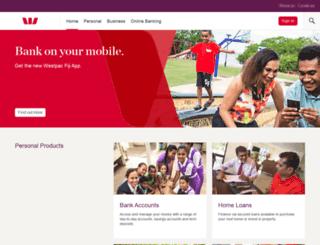 westpac.com.fj screenshot