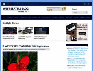 westseattleblog.com screenshot