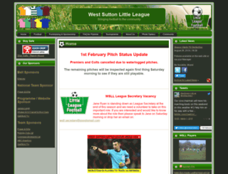 westsuttonlittleleague.co.uk screenshot