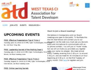 westtexas.astd.org screenshot