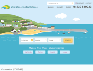 westwalesholidaycottages.co.uk screenshot