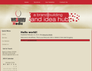 wesunnymedia.co.za screenshot