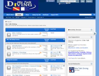 wetalkdiving.com screenshot