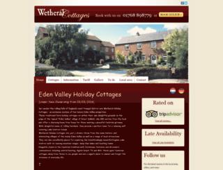 wetheralcottages.co.uk screenshot