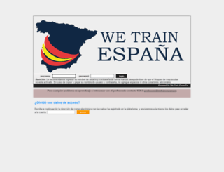 wetrainespana.es screenshot