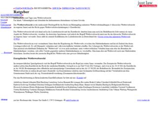 wettbewerbsrecht.justlaw.de screenshot
