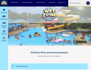 wetzonewaterpark.com screenshot