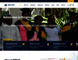 weuc.edu.gh screenshot