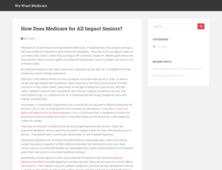 wewantmedicare.com screenshot
