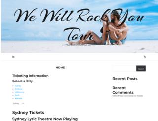 wewillrockyou.com.au screenshot