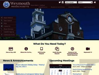 weymouth.ma.us screenshot