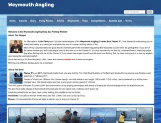 weymouthangling.co.uk screenshot