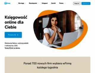wfirma.pl screenshot