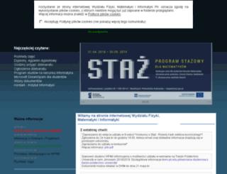 wfmiis.pk.edu.pl screenshot