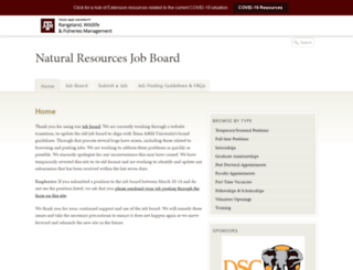 wfscjobs.tamu.edu screenshot