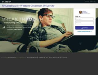 wgu.mylabsplus.com screenshot