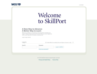 wgu.skillport.com screenshot