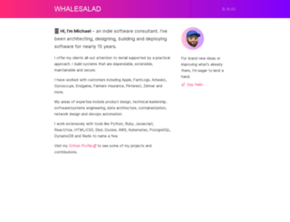 whalesalad.com screenshot