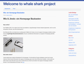 whalesharkproject.org screenshot