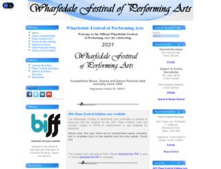 wharfedalefestival.co.uk screenshot