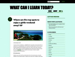 whatcanilearntoday.wordpress.com screenshot