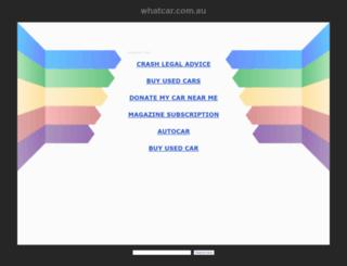 whatcar.com.au screenshot