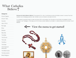 whatcatholicsbelieve.us screenshot