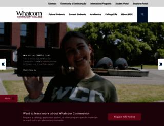 whatcom.edu screenshot