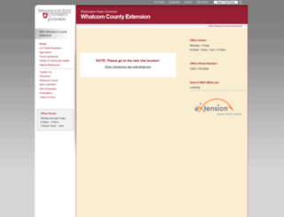 whatcom.wsu.edu screenshot