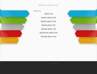 whatever-project.com screenshot