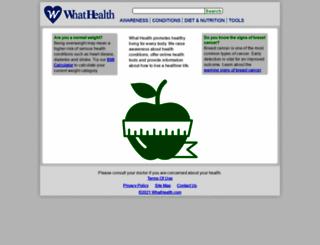 whathealth.com screenshot