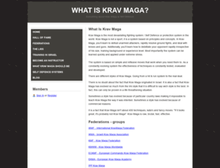 whatiskravmaga.webs.com screenshot