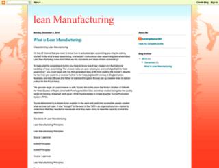 whatislean-manufacturing.blogspot.com screenshot