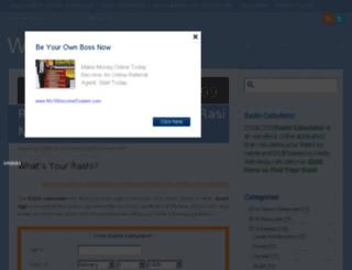 whatismyrashi.com screenshot