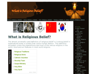 whatisreligiousbelief.com screenshot