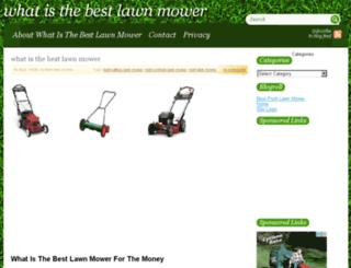 whatisthebestlawnmower.com screenshot
