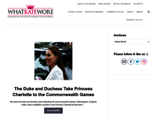 whatkatewore.com screenshot